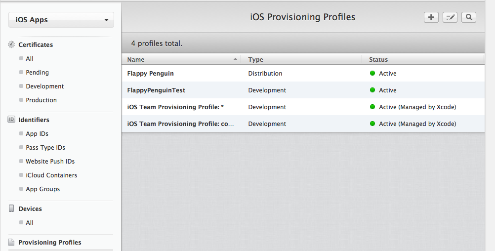 itunes publishing profiles